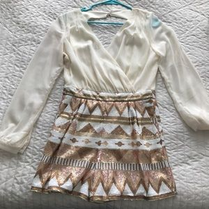 Other - Brand new long sleeve sequin romper